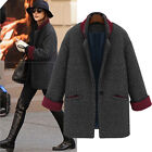 New Womens Winter Parka Coats Outerwear Boyfriend Style Oversized Coat Size 8-14