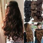 5 Clip in Hair Extensions Curl/Curly/Wavy/Long Head Ponytail Natural Black/Brown