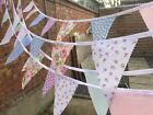 HANDMADE FABRIC BUNTING.SHABBY CHIC.WEDDINGS,VINTAGE FLORALS.