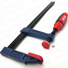 ★SETS OF 2 PRO SOFT GRIP F-CLAMP★150-300mm Hex Tight Woodwork Quick Speed G/Vice