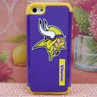 Minnesota Vkings 3D Impact Hard+Rubber Cover Case for Apple iPhone 5 5s