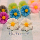 FUNKY SMALL VINTAGE 12mm DAISY EARRINGS WEDDING FAVOUR CUTE BRIDESMAID PROM GIRL