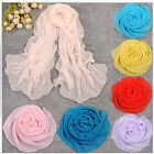 Factory Direct sale Women's Solid Pure Color Wraps Shawl Stole Chiffon Scarf