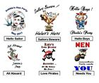 TEMPORARY TATTOOS 16 hen night christmas party  NAVY PIRATE PERSONALISED