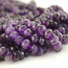 30 Semi Precious Gemstone Amethyst Faceted Rondelle Beads 8x6, 10x8mm Grade A+