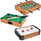 Mini Table Top Air Hockey Pool Football Game Set Activity Games for Kids Play