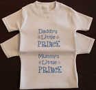 Daddy's Little Prince Boy Baby Blue Clothes T Tee Shirt Cute Funny Gift