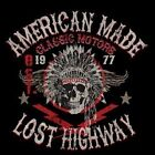 LOST HIGHWAY AMERICAN PRIDE ACCENT THROW PILLOW MAN CAVE GAME ROOM