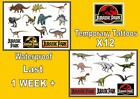 JURASSIC PARK theme DINOSAURS temporary Tattoos X12 tattoo WATERPROOF LAST1 WEEK