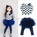 NWT 2pcs Outfit Baby Toddler Girls Kids Clothes Set Dress Top+Leggings Skirt 2-6