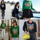 Vogue Women Celebrity Embroidery Tiger Head Tops Blouse Jumper Hoodie Sweater LD