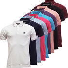 Mens Polos Lambretta Plain Pique Polo Shirt S M L XL XXL