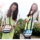 3D Women Cartoon 2D Jump Style Comic Stripe Drawing From Paper Shoulder Bag NEW