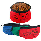 Pet Cat Dog Portable Collapsible Foldable Camping Travel Bowl Water Food Feeder