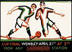Soccer Final Cup Wembley England United Kingdom Vintage Poster Repro FREE S/H