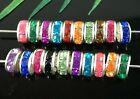 100 Rondelle Acrylic Crystal Rhinestone Beads Fit Basketball Wives Earring  8mm