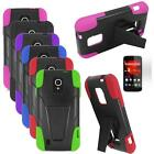 Phone Case For Straight Talk ZTE Majesty 796C Rugged Cover Stand + Screen Guard