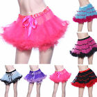 1980s Vintage Layered Satin Striped Tulle Tutu Skirts Petticoats