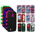 Phone Case For ZTE Source N9511 / Majesty Z769c Tri-Layered Hard Rib Cover