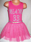 GIRLS CERISE PINK SPORTY BALLERINA TUTU PARTY DRESS with BELT