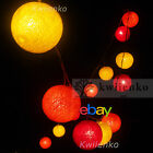 FP- 20 35 COTTON BALL STRING PARTY,PATIO,DECOR,HOME,WEDDING HOLIDAY BED LIGHTS