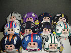 "U PICK your Team 1 NFL Football TY Beanie Babies Ballz BALLs COLOR 5"" Reg Size"