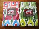 "SERENDIPITY 60 x 84"" Fabric Patio Umbrella Hole Red Tablecloth Zipper Close NIP"