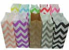 New 25 x Chevron Stand Up Paper Loot Bags Lolly Buffet Wedding Party Favour