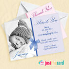 10 Personalised Baby Thank You Cards