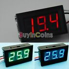 DC 0-30V Red LED 3-Digital Display Voltage Voltmeter Panel Motorcycle Accurate