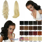 Reversible Drawstring Ponytail extension Flick Straight hairpiece