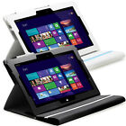 Leather Folio Stand Cover Case w/ Keyboard Holder For Microsoft Surface Pro 2