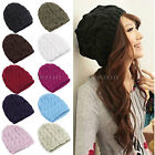 New Ladies Women Cable Knit Knitted Crochet Beanie Hat Cap