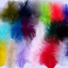 Colourful small marabou feathers for crafts, sewing, costumes, decoration x 50