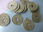 20 X CHINESE FENG SHUI LUCKY WEALTH COIN TIBETAN BRONZE METAL CHARMS -