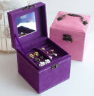 New Cosmetic Storage Display Gift Case Jewellery Boxes Square With Handle Style