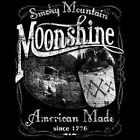 SMOKY MOUNTAIN MOONSHINE WHISKEY MOONSHINERS CHEST LOGO T SHIRT