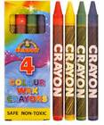 4PK WAX CRAYONS CHILDREN KIDS LOOT GOODY PARTY BAGS FAVOUR PINNATA FILLERS TOYS