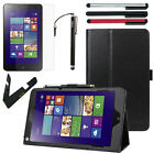 "Slim Folio Leather Stand Cover Case Accessory For Lenovo ThinkPad 8 8.3"" Tablet"