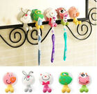 Cute Child Cartoon Toothbrush Holder Suction Hooks Bathroom Home Essential Kids