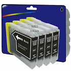 4 Black Compatible Printer Ink Cartridges for Brother LC970 / LC1000 Range