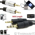 3.5mm Male Jack to Jack Audio Aux Stereo Cable For In Car Mobile Phone Speaker