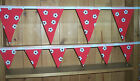 Brand New RED FOOTBALL Double Sided Bunting - large or small