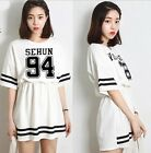 K-POP EXO Korean Skirt T-Shirt Dress EXO-K EXO-M 2014 New Style