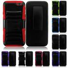 For AMAZON FIRE PHONE Rugged Side Stand Holster Cover Case + LCD Screen Guard