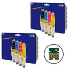 2 Sets of non-original Printer Ink Cartridges for the Epson E0441-4 Range