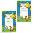 Jungle Children Party Stationery - Invitations or Thank You's - Sold In Packs