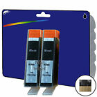 2 Black Chipped Compatible Printer Ink Cartridges for HP 364 Range [364 x4]