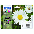 1 Set of Epson T1806 Genuine OEM Original Printer Ink Cartridges [C13T18064010]