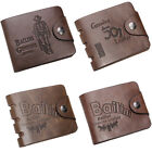 Mens Cowboy Genuine Leather Bifold Wallet Card Money Holder Purse Pocket Clutch